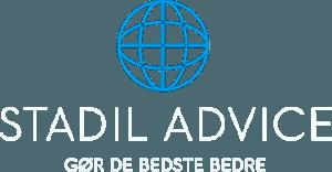 Stadil Advice logo i hvid